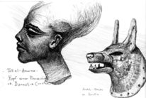 Amarna, Wall dimitri, Europa, Kopf einer prinzessin