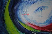 Ölmalerei, Farben, Blau, Augen