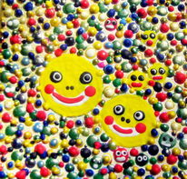 Kinder, Spielerei, Berlin, Lächeln