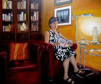 Lampe, Lesen, Weiblich, Sessel