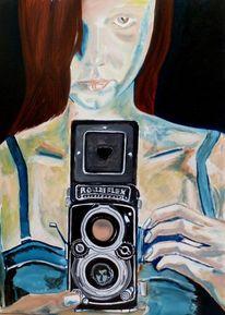 Kleid, Frau, Fotoapparat, Blick
