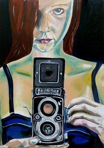 Blick, Rot, Kamera, Fotoapparat