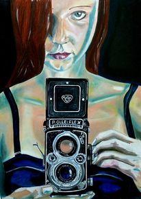 Blick, Rot, Kamera, Fotografie