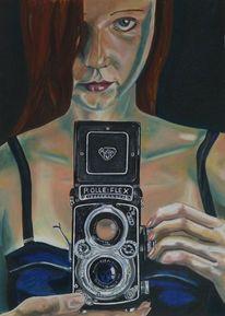Fotografie, Blick, Kamera, Mund