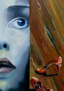 Schuhe, Mund, Rot, Gesicht