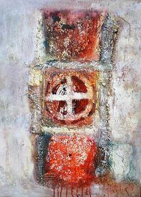 Kreuz, Abstrakt, Struktur, Blut