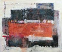 Verschneidungen quadrate, Feld, Rot schwarz, Orange