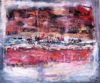 Rot, Abstrakt, Landschaft, Abendrot