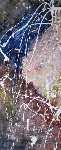 Acrylmalerei, Geteilte, Freude, Teil