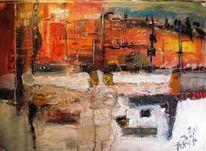 Stadt, Architektur, Orient, Malerei