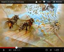 Pflanzen, Insekten, Universum, Acrylmalerei