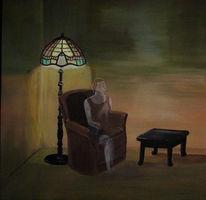 Lampe, Unsichtbar, Zigarre, Frau
