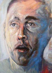 Menschen, Portrait, Ölmalerei, Ausdruck