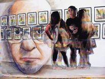 Menschen, Acrylmalerei, Portrait, Malerei