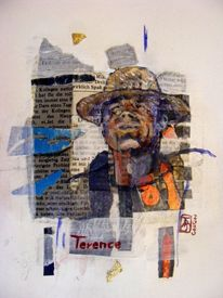 Terence, Stern, Collage, Ausdruck