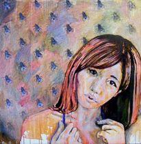 Ausdruck, Malerei, Frau, Emotion