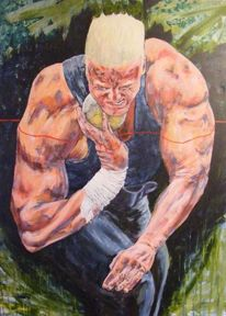 Menschen, Acrylmalerei, Muskulatur, Portrait