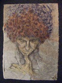 Grafik, Portrait, Zeichnung, Acrylmalerei