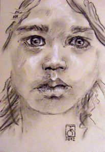 Malerei, Ausdruck, Portrait, Emotion