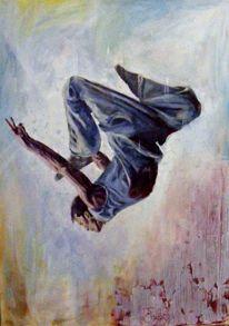 Ölmalerei, Serie, Menschen, Malerei