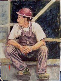 Ölmalerei, Acrylmalerei, Menschen, Arbeiter