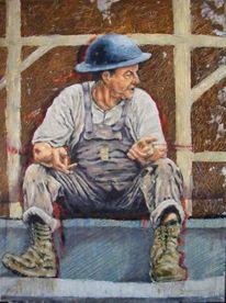 Portrait, Serie, Menschen, Acrylmalerei