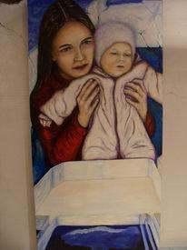 Mutter, Entwicklung, Raum, Kind