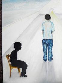 Erwachsenwerden, Loslösen, Zukunft, Malerei