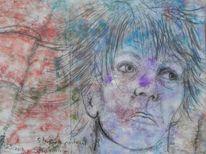 Farben, Zufall, Selbstportrait, Stumm