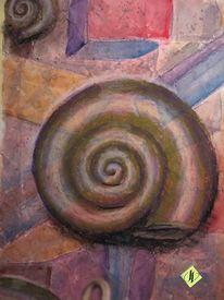 Aquarellmalerei, Schnecke, Pastellmalerei, Nautilus