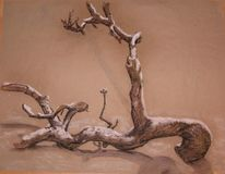 Natur, Pastellmalerei, Rauhreif, Zweig
