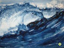 Blai, Aquarellmalerei, Meer, Welle