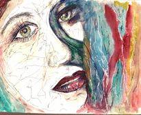 Gesicht, Farben, Portrait, Bunt