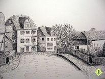 Schwalm, Wachhäuschen, Zeichnung, Schwalmstadt