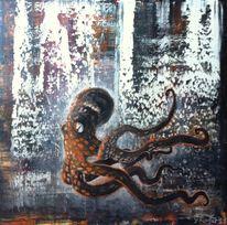 Abstrakt, Krake, Tentakel, Malerei