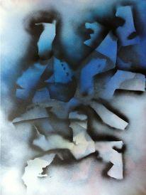 Zerfall, Blau, Fragment, Figur