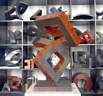 Stahl, Konstruktion, Holz, Bewegung
