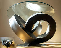 Tisch, Design, Exzentrisch, Plastik