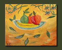 Obst, Apfel, Birne, Blumen