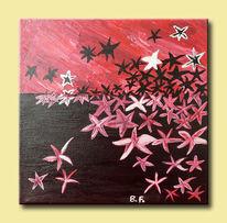 Rot schwarz, Stern, Sternenhimmel, Silber