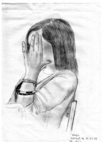 Kohlezeichnung, Zeichnung, Vitalia, Portrait