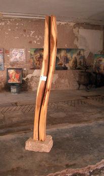 Holz, Skulptur, Gespalten, Trocknen