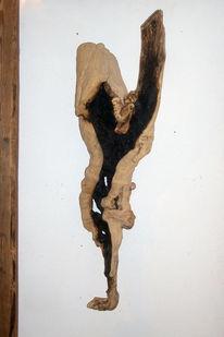 Leid, Skulptur, Asche, Flieder