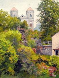 Basilika sommer, Malerei, Basilika, Blick