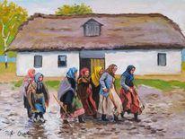 Frauen landwirtschaft, Malerei, Menschen