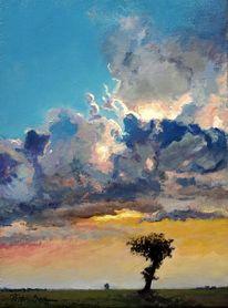 Sonne wolken sommer, Malerei, Sonne, Wolken