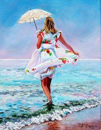 Wasser, Frau, Ostsee, Sommer