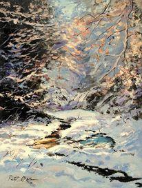 Winter wald schnee, Malerei, Winterwald
