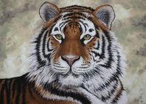 Katze, Tiermalerei, Tiere, Irina wall