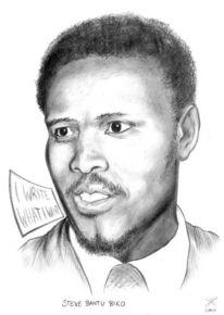 Portrait, Biko, Bantu, Zeichnungen